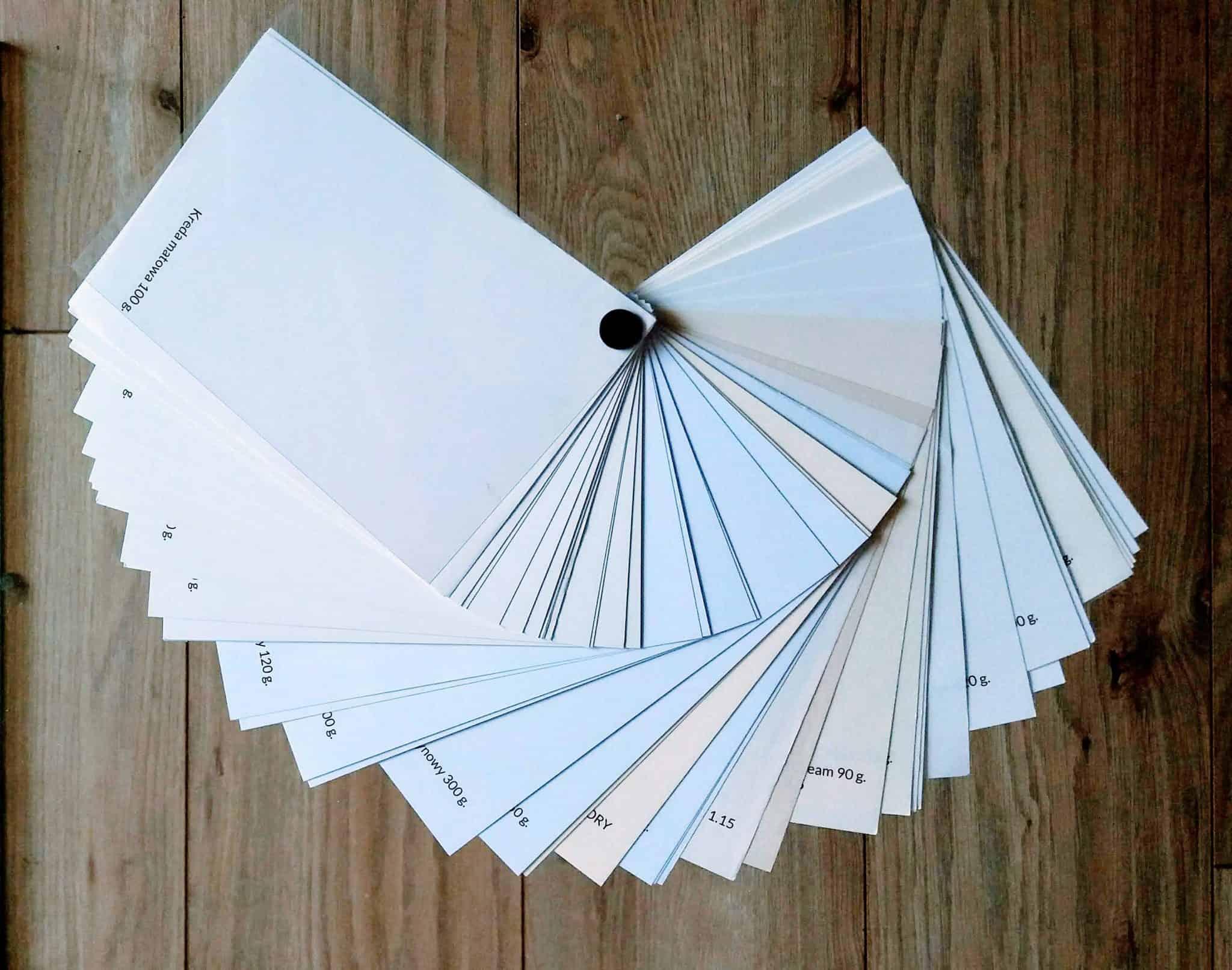 wzornik papierów do rozmówek
