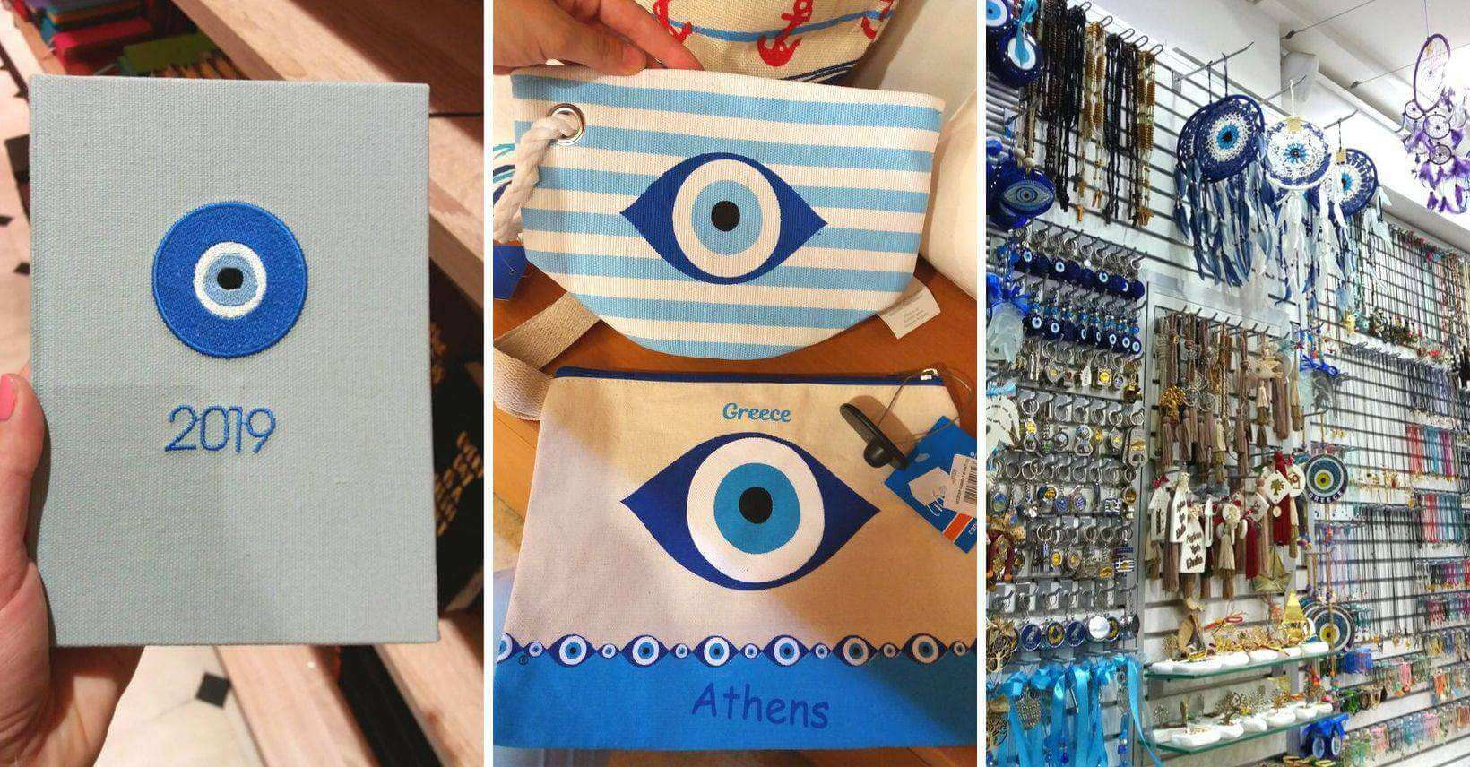 przedmioty z greckim okiem