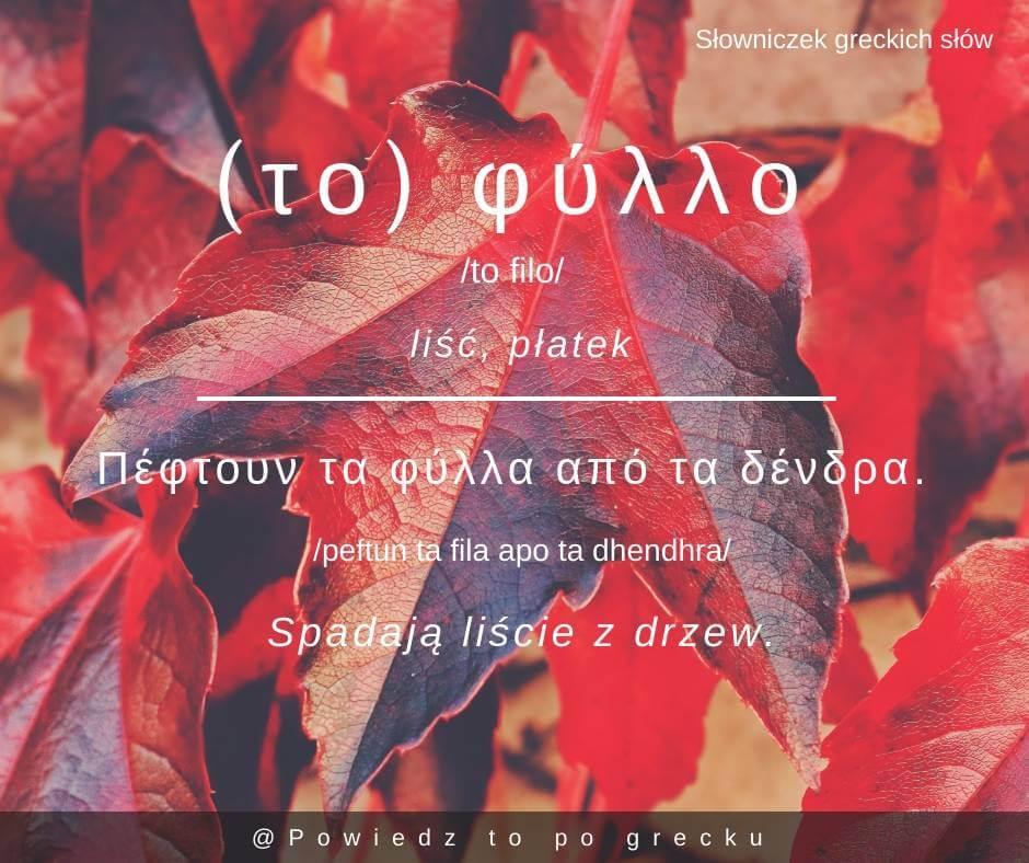 liść po grecku