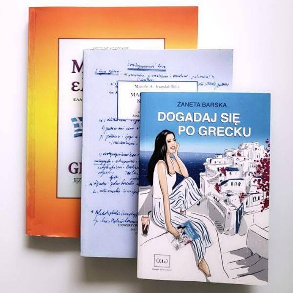 Zestaw trzech książek do nauki greckiego