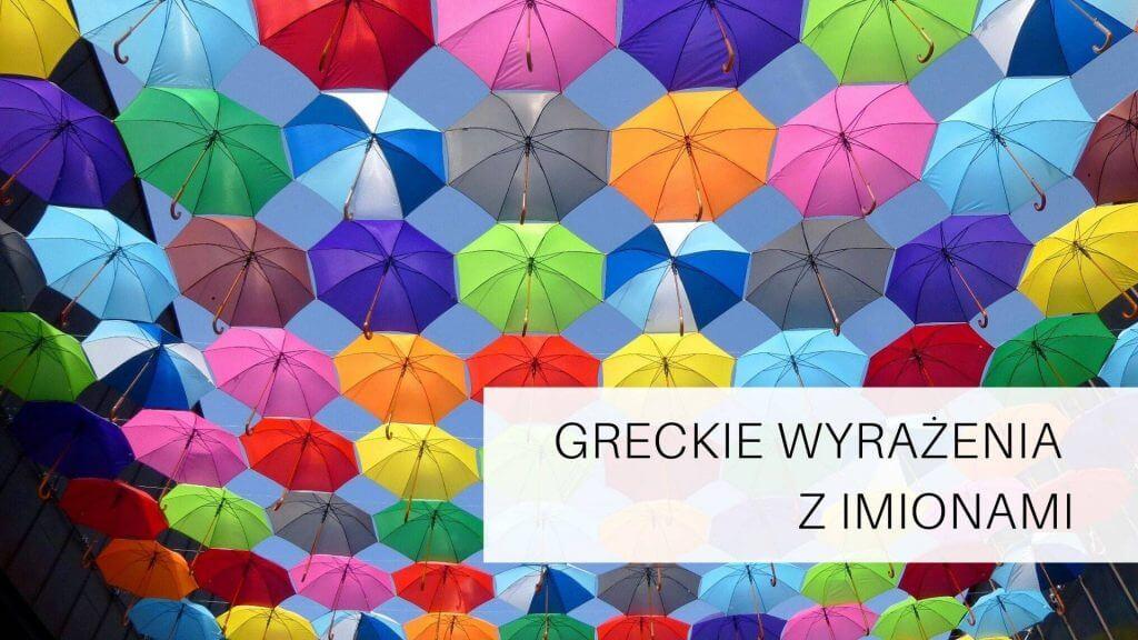 greckie wyrazenia z imionami